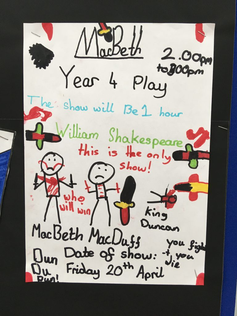 Macbeth Poster - Year 4, Montpelier Primary