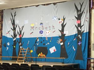 Macbeth Back Drop - Icknield Primary School, Luton