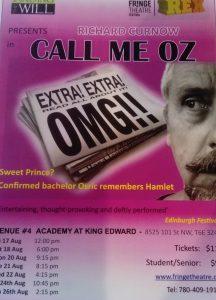 Call Me Oz Edmonton Fringe, Canada