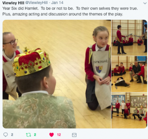 Viewley Hill Primary, Middlesbrough, Hamlet courtesy of Twitter feed