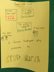 Romeo & Juliet poster, Year 3, Christ Church Primary, Surbiton