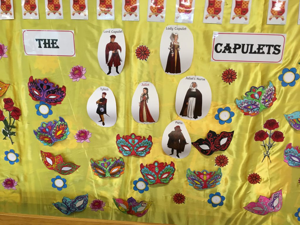 Capulet backdrop - Montpelier Primary, Ealing