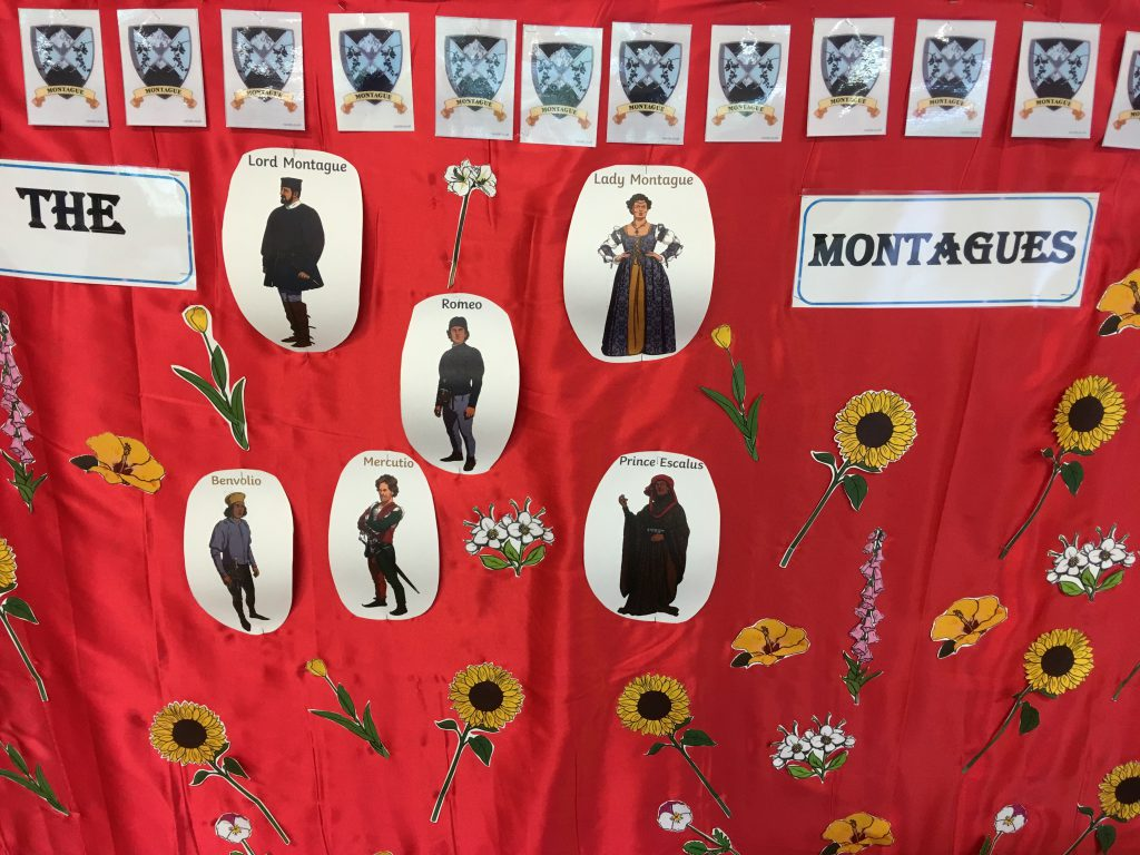 Montague backdrop - Montpelier Primary, Ealing
