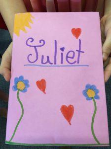 Juliet's special book - Heritage Park Primary