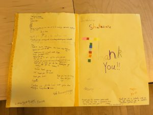 Thank You card from Year 4, Heritage Park Primary, Peterborough