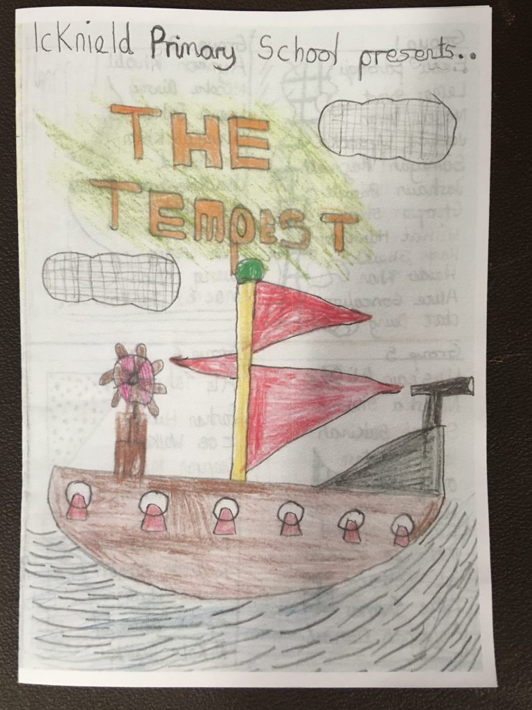 Programme front for The Tempest, Icknield Primary School, Luton