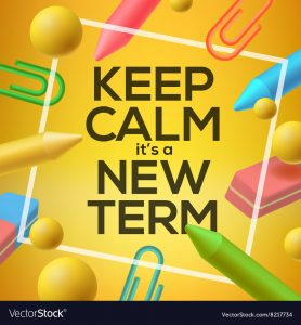 FINDING THE WILL says Keep Calm It's a New Term!