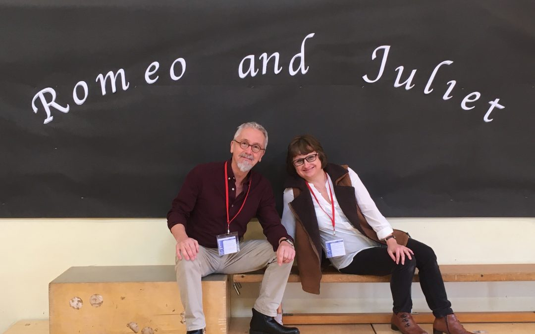FINDING THE WILL's Richard and Jules do R&J at Great Leighs Primary, Essex