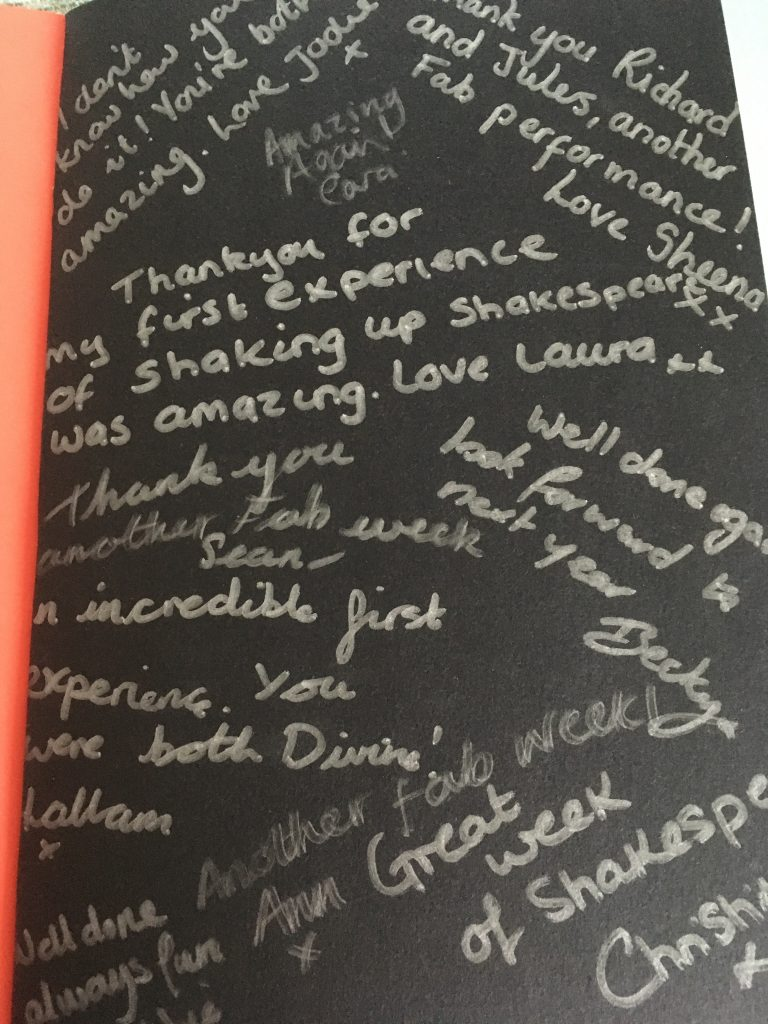 A book of thanks from the children and staff at St Bartholomew's Academy, Coventry