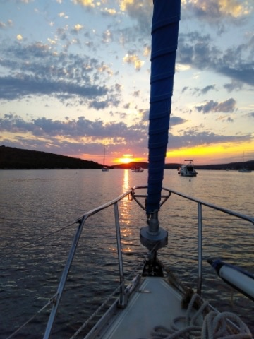 Learning to navigate unchartered digital waters - sailing into a hopeful sunset.
